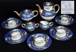 Kaffee-Teeservice. DRESDEN, Ambrossius Lamm 1887 - 1950. Kaffee-Teeservice für fünf Personen.