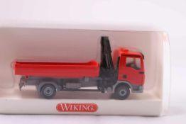 Wiking 6750431 Pritschen LKW mit Ladekran (MAN TGA L), neuwertig, OVP- - -20.00 % buyer's premium on