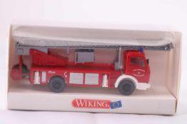 Wiking 61801 Feuerwehr DLK 23-12 (Metz), Leiterwagen, neuwertig, OVP- - -20.00 % buyer's premium