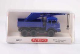 Wiking 069323 THW-Kranwagen (Krupp 806), neuwertig, OVP- - -20.00 % buyer's premium on the hammer