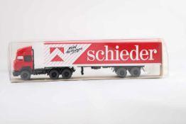 """Wiking 540127 Iveco Koffersattelzug """"Schieder"""", neuwertig, OVP- - -20.00 % buyer's premium on the"""