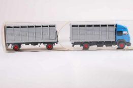 Wiking 56527 Viehtransporter Fernlastzug, neuwertig, OVP- - -20.00 % buyer's premium on the hammer