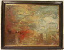 """William Turner: """"Sonnenuntergang über einem See"""". Original Dietz-Replikat auf Lwd., 60 x80cm,"""