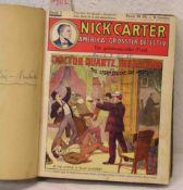 """Nick Carter - Amerikas grösster Detektiv"". Heft 1 bis 25, gebunden."