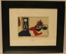 """Picasso: """"Nature morte avec fruits"""". Farblithografie aus dem Mappenwerk """"Dans l' Atelierde Picasso"""