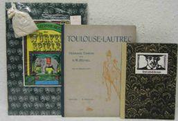 """Drei Bücher. Dabei: Esswein und Heymel: """"Toulouse - Lautrec"""". Müchen, Piper Verlag, 1912."""