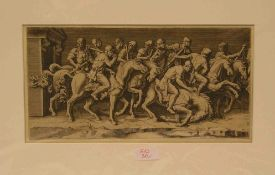 "Bouzonnet - Stella, Antoinette (Lyon 1641 - 1676 Paris): ""Berittener Soldatenzug"".Radierung 1675,"
