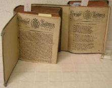 """""""Leipziger Zeitung"""" 1810 und 1818. Gebunden in zwei Büchern."""