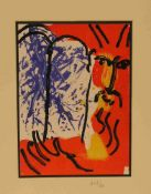 """Marc Chagall (Witebsk 1887 - 1985 Vence). 518 Moise. Farblithographie aus """"La Bible I""""1956."""