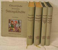 """Fuchs, Eduard: """"Illustrierte Sittengeschichte"""". Vom Mittelalter bis zur Gegenwart. DreiBände und"""