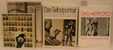 """Fotografie. Vier Bücher. Dabei: """"Das Aktfoto"""", """"Das Selbstportrait"""" usw."""