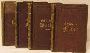 Schillers Werke in vier Bänden. Stuttgart und Leipzig um 1890.