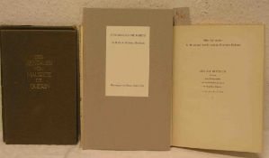 Rilke, Rainer, Maria. Drei Bücher. Verse und Prosa aus dem Nachlass, Leipzig 1929,Erstausgabe -