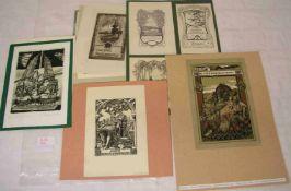 Ex Libris, 25 Exemplare bekannter Künstler, z. B. Ehringhausen, Hermann Hirzel, Barlösius,viele im