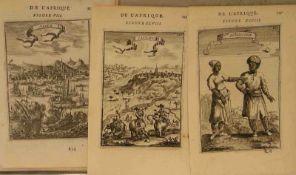 """Description de l'Univers"". 15 Blatt Kupferstiche (1630 - 1706). Blattgröße: je20,5 x14cm."