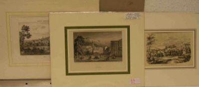 Raum Baden-Baden: Sammlung von 70 Ansichten und Grafiken. 19. Jh., Holzstiche, Stahlsticheusw.,