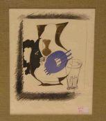 """Braque, George ( Argenteuil 1882 - 1963 Paris) : """"Moderne Komposition"""". Farblithographie,32 x"""