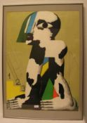 "Horst Antes: ""Olympia Plakat"". Farblithografie, 86 x 62cm, Wechselrahmen.- - -20.17 % buyer's"