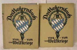 """""""Das Bayernbuch vom Weltkriege 1914 - 1918"""", zwei Bände. Chr. Belser AG,Verlagsbuchhandlung,"""