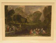 """""""The goddess of Discord"""" (Die Göttin der Zwietracht). Großer, kolorierter Stahlstich um1840 von T.A."""