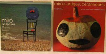 """Miro, zwei Bände. """"Sculptures"""" und """"Céramiques"""" Maeght Editeur.- - -20.17 % buyer's premium on the"""