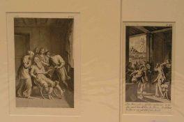 Hl. Tobias. Verschiedene Motive aus seinem Leben.Sieben Blatt Kupferstiche undHolzstiche, 18. und