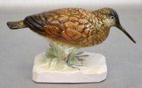 Vogelauf rechteckigem Sockel, bunt bemalt, H 7 cm, L 13 cm, FM