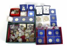MünzsammlungDeutschland, DDR, Spanien u.a.; 19. und 20.Jh.; Silber und andere Metalle (kein Gold);