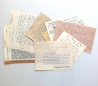 Konvolut Waentig-Schriftverkehrmit Museen, Künstlerfreunden und einem Schreiben von Markgraf von