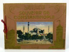Souvenir de Constantinoplemit 24 farbigen Ansichten von Konstantinopel