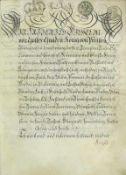 Friedrich Wilhelm IIKönig von Preussen; Adelsbrief 1786 mit eigenhändiger Unterschrift Friedrich