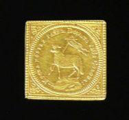 Goldmedaille1,8 x 1,8 cm; 3,45g; 21,6ct;