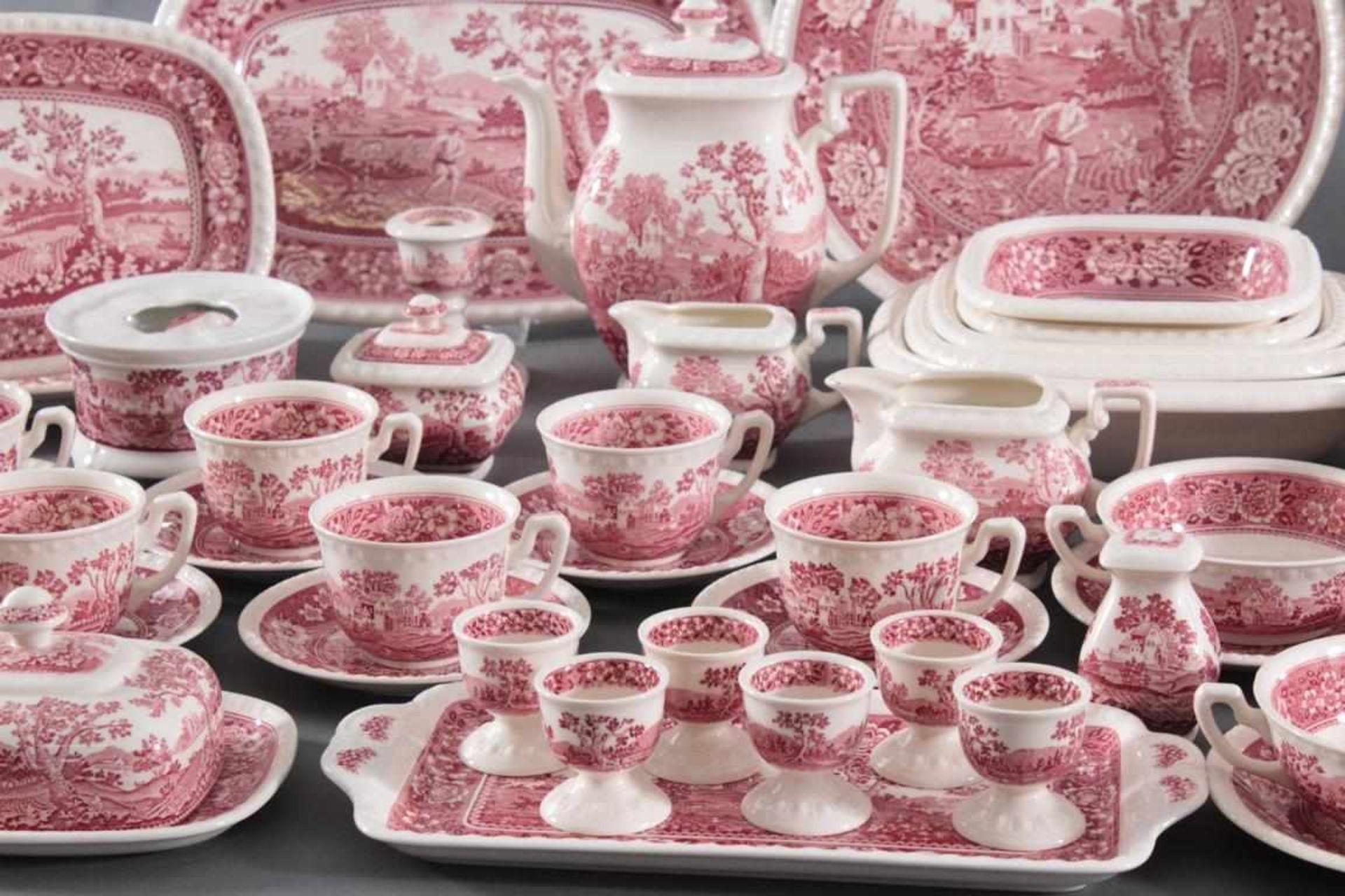Villeroy & Boch Kaffee-/Speiseservice, Dekor Rusticana rot107 Teile. 1 Kaffeekanne, 13 Tassen, 12 - Bild 2 aus 4