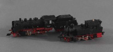 2 Fleischmann Dampfloks Spur H0 70091 und 24 074