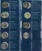 Sammlung 2-Euro Gedenkmünzen inkl. San Marino 2004-20112 Ordner mit insgesamt über 140 2-Euro