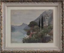 "Emil Beurmann (1862-1951)Aquarell, ""Gardasee"", ca. 22 x 28 cm. Gerahmt"
