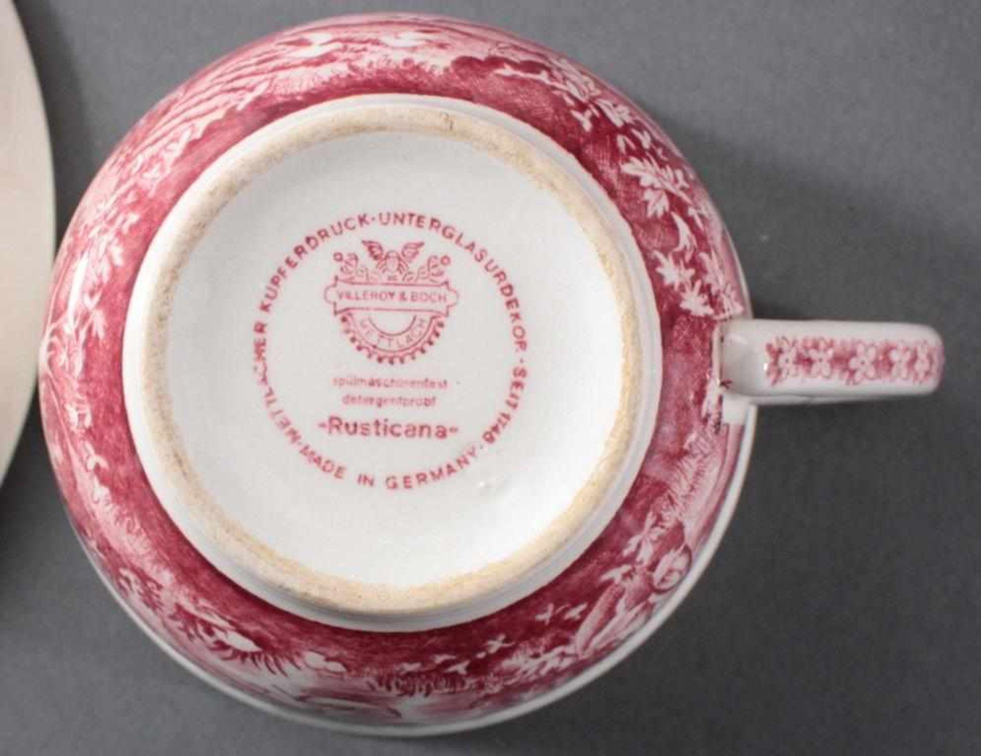 Villeroy & Boch Kaffee-/Speiseservice, Dekor Rusticana rot107 Teile. 1 Kaffeekanne, 13 Tassen, 12 - Bild 4 aus 4