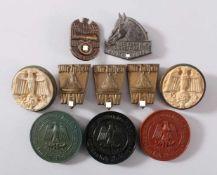 WHW Spendenbelege10 Stück. Unter anderem: Das Pferd im Dienste des WHW 3.12.1933, Wir helfen, Gau