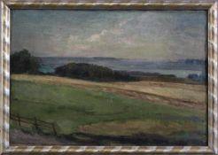 Curt Rüger (1867 - 1930), Uferpartie am AmmerseeÖl auf Leinwand gemalt, auf Karton aufgezogen, unten
