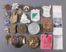 20 Tagungs- und Veranstaltungsabzeichen, MemorabiliaZeithain, Zeitz, ZiegenhainUnterschiedliche