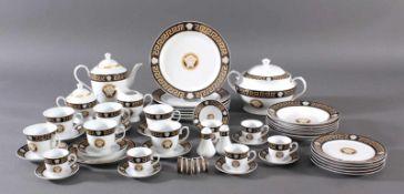 "Großes Tafelservice. Da Vinci Collection - ""Nero"" Black-Gold - Limited EditionPorzellan, Dekor"