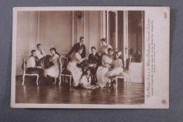 Postkarte mit Autograph Erzherzogin Blanca de Borbòn (1868-1949)Postkarte mit Motiv der Kinder S. k.