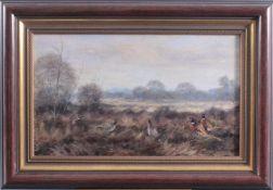 """Paul W. Dahms (1913-1988). """"Fasane""""Öl auf Leinwand gemalt, unten rechts signiert, gerahmt, ca."""