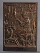 """Carl Börner (1828-1905), BronzereliefReliefplatte, in der Platte bezeichnet """"C. Borner"""","""