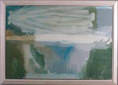 Lutz Wolf 1943 - 1997, Landschaft GrezzoÖl auf Leinwand gemalt, verso betitelt und signiert,