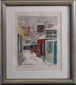 """Maurice Utrillo (1883-1955)Farblithographie, """"Montmartre"""", in der Platte signiert, ca. 27 x 21 cm,"""