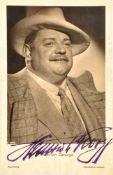 GEORGE, HEINRICH, (1893-1946), dt. Schauspieler u. Theaterdarsteller, zeitgen. Tinten-OU auf