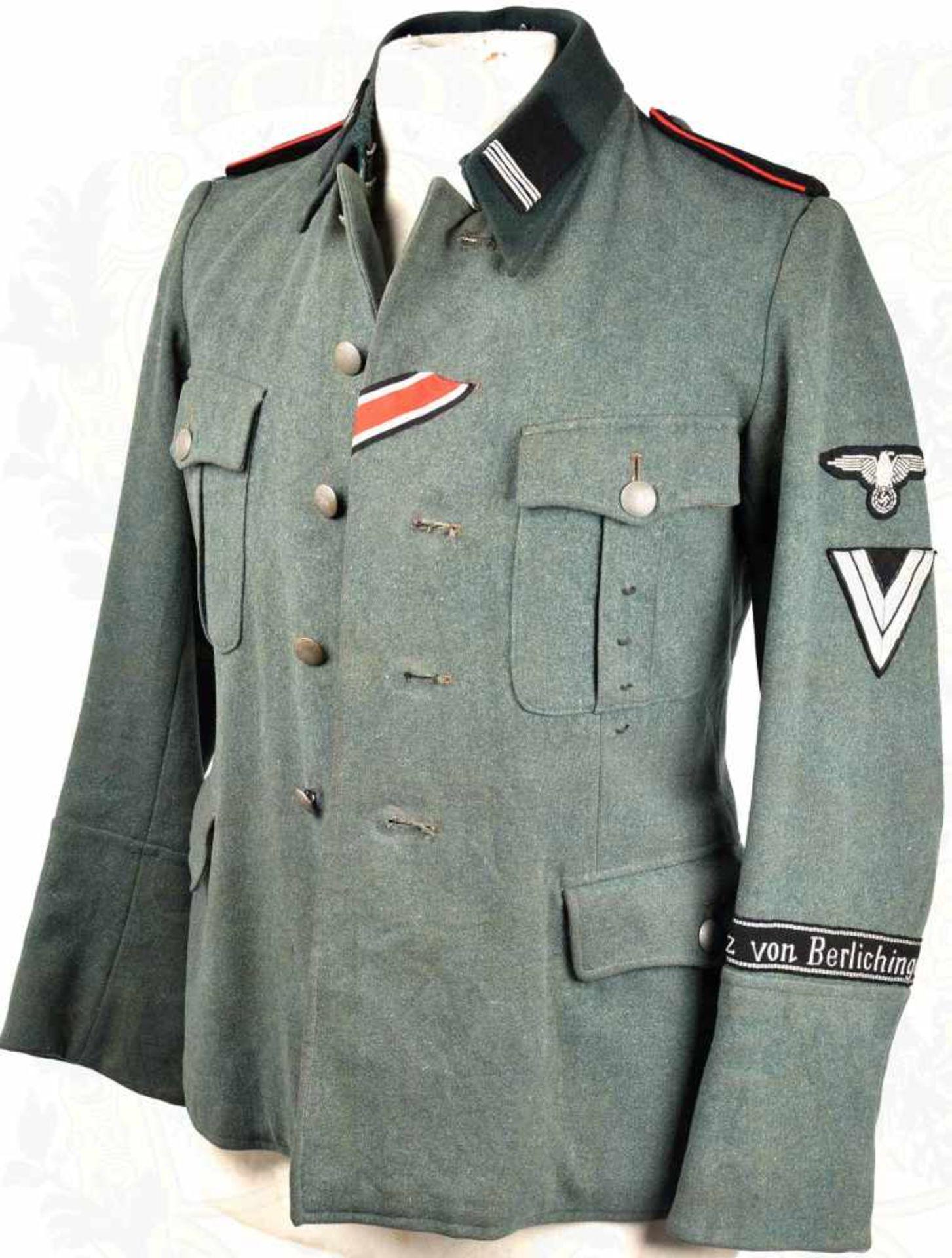 UNIFORMROCK ROTTENFÜHRER der 17. SS-Panzer-Gren.-Div. Götz von  Berlichingen, Feldbluse zeitgenöss
