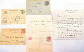 6 UNTERSCHRIFTEN DEUTSCHE HISTORIKER UND ARCHÄOLOGEN: Alfred Dove (1844-1916); Otto Georg Kern (