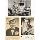 3 ORIGINALUNTERSCHRIFTEN HEINZ RÜHMANN, (1902-1994), dt. Schauspieler u. Regisseur, Tinten-OU auf
